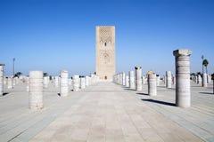 Башня Марокко Хасана вышесказанного Стоковая Фотография RF
