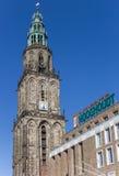 Башня Мартини и здание Vindicat в Groningen Стоковое Изображение RF