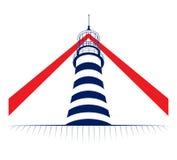 башня маяка иконы иллюстрация вектора