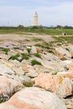 башня маяка hercules Стоковое Изображение