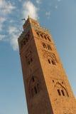 Башня мечети Koutoubia в Marrakech стоковые фото