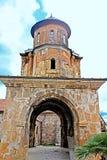 Башня монастыря в ненастной погоде, Georgia Gelati стоковые фото