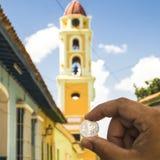 Башня монетки 0,25 CUC Стоковое Изображение RF