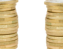 Башня монеток евро Стоковое Фото