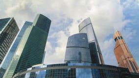 Башня Москв-города делового центра Timelapse видеоматериал