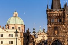 Башня моста на стороне старого городка, Праги Стоковые Фото