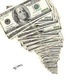 Башня наличных денег и стекел Стоковые Фото