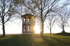Башня на заходе солнца Стоковые Фотографии RF