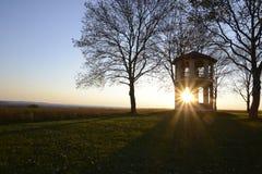 Башня на заходе солнца Стоковое Фото