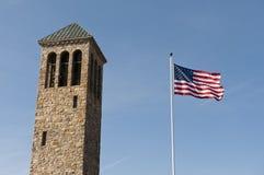 башня неба американского флага Стоковое Изображение RF