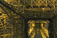 башня ночи eiffel Париж Европа Стоковое Изображение RF