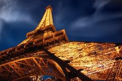 башня ночи eiffel Стоковое Фото