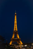 башня ночи eiffel Стоковая Фотография RF