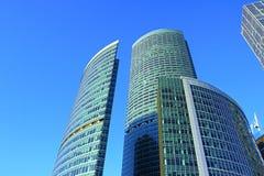 Башня обваловки в сложном городе Москвы стоковое изображение rf