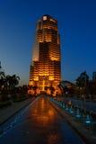 Башня общественного банка в Куалае-Лумпур на ноче Стоковые Фото