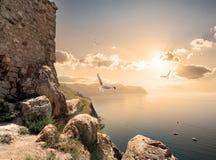 Башня около моря Стоковое Изображение
