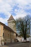 Башня около средств церков, Трансильвания, Стоковые Фото