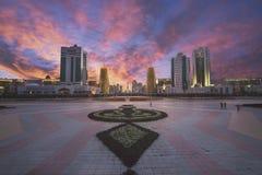 башня дома часов города buil astana стоковые фото