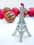башня орнамента eiffel рождества Стоковое Изображение RF