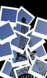 башня открытки eiffel коллажа поляроидная Стоковые Изображения