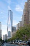 Башня одно Нью-Йорк всемирного торгового центра стоковая фотография
