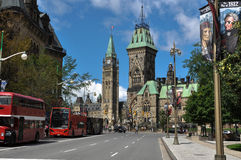 Башня парламента и мира, Оттава, Канада Стоковые Фото