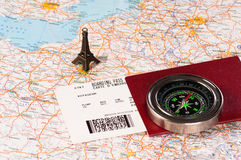 башня пасспорта eiffel компаса Стоковая Фотография RF