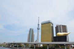Башня пива Asahi Стоковое Изображение