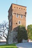 Башня похитителей в замке Wawel в Кракове Стоковые Изображения