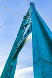 Башня подвеса моста строба льва, Ванкувер, ДО РОЖДЕСТВА ХРИСТОВА Стоковая Фотография