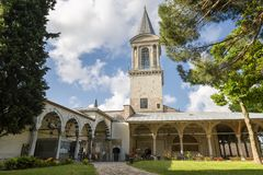Башня правосудия и имперского совета на дворце Topkapi, Стамбуле, Турции Стоковая Фотография RF
