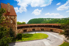 Башня предохранителя на замке Buda в Будапеште стоковая фотография