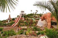 Башня привлекательности воды силы в waterpark Сиама стоковое фото rf