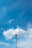 Башня пятна светлая на небе Стоковое Фото