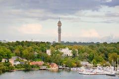 башня радиосвязей stockholm Стоковые Изображения RF