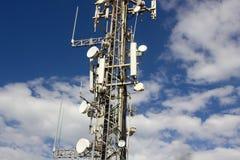 Башня радиосвязи в Европейском союзе Стоковая Фотография
