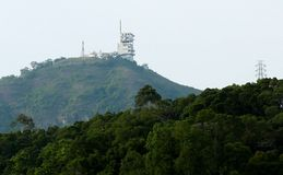 Башня радиосвязи для телевидений Стоковое Фото