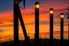 Башня радиосвязи конструировала для 1992 Олимпиад лета в баре Стоковая Фотография RF