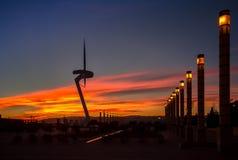 Башня радиосвязи конструировала для 1992 Олимпиад лета в баре Стоковое Фото