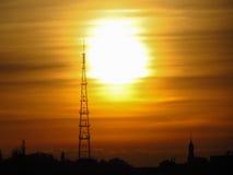 башня радио Стоковая Фотография RF