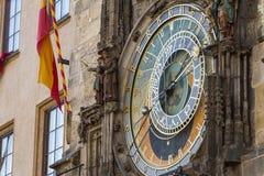 Башня ратуши астрономических часов старая, Прага Стоковая Фотография