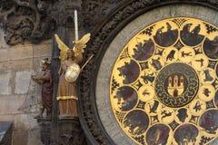 Башня ратуши астрономических часов старая, Прага Стоковое фото RF