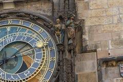 Башня ратуши астрономических часов старая, Прага Стоковое Изображение RF