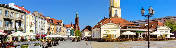 Башня ратуши в Bialystok, Польше стоковые изображения