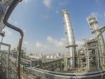 Башня рафинадного завода в широком объективе Стоковые Фотографии RF