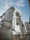 Башня рафинадного завода в широком объективе Стоковые Фото