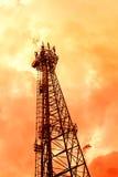 Башня радиосвязей в мягком цвете Стоковое Фото