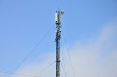 Башня радиосвязей для передачи радиоволн Стоковая Фотография RF