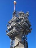 Башня радиосвязи в снеге Стоковые Изображения RF