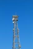 Башня радиосвязи и синь неба Стоковые Фото